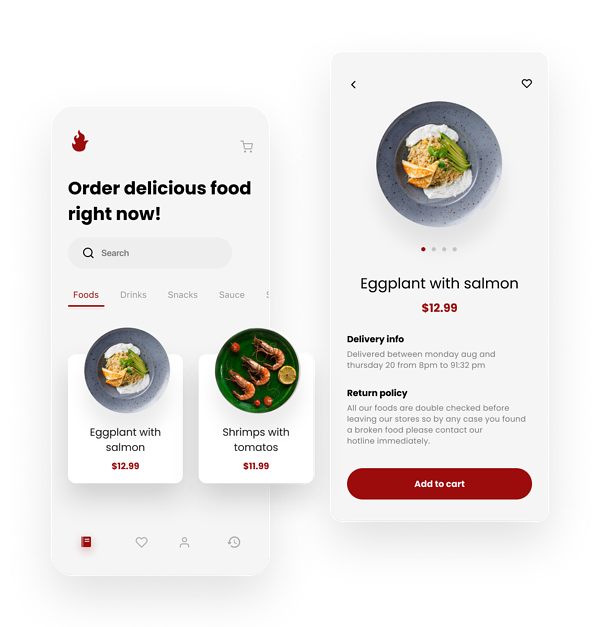 Restaurant App Development - the example of a food delivery app